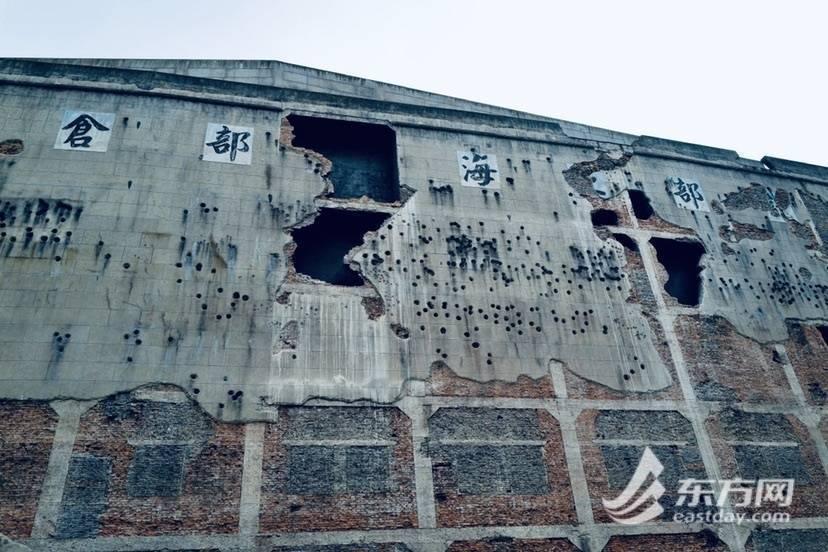 上海蘇州河北岸的四行倉庫抗戰紀念館14日正式掛牌「上海市對台交流基地」。圖源:東...