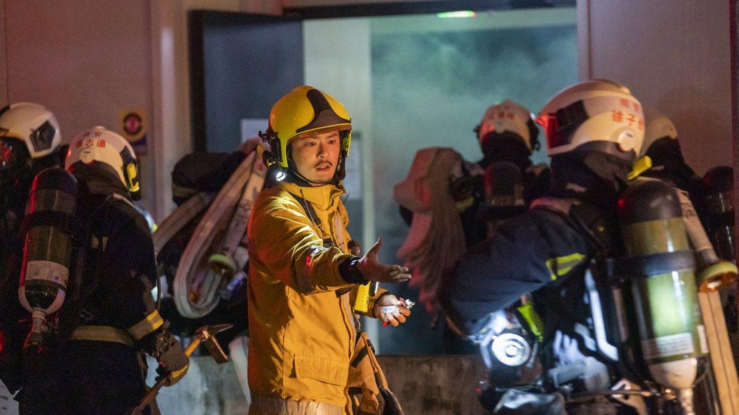 元康在「火神的眼淚」中飾演同安分隊小隊長。圖/公視、myVideo提供