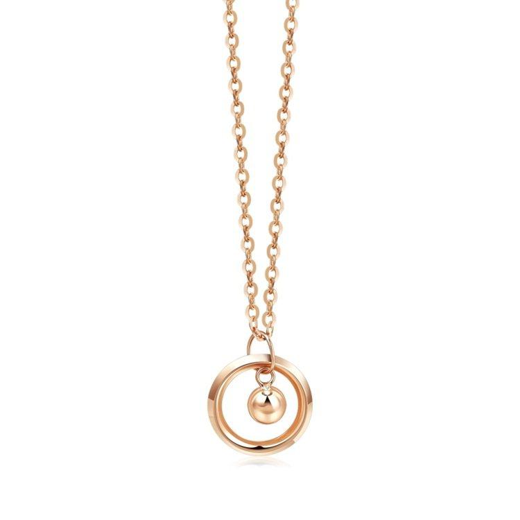 點睛品18K簡約時尚項鍊,原價4,400元、Yahoo奇摩購物中心4月22日「點...