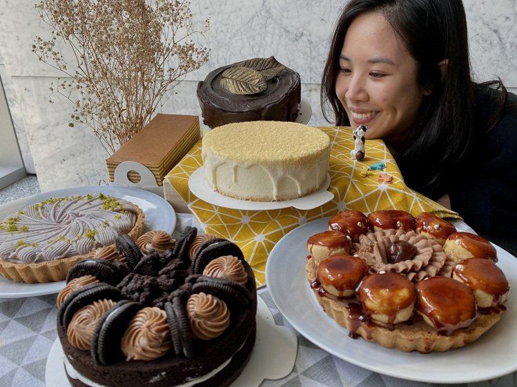 母親節到全聯就能購買各式精巧典雅的特色蛋糕。圖/全聯福利中心提供