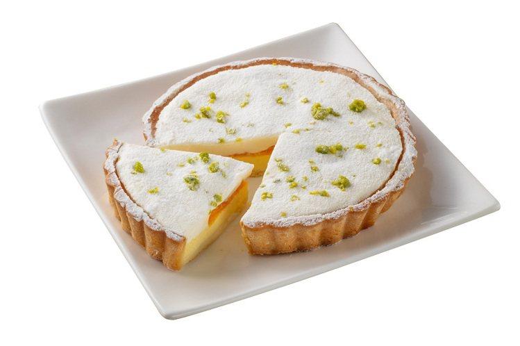 母親節現貨蛋糕,檸檬蜜柑乳酪派,售價195元。圖/全聯福利中心提供