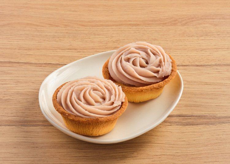 母親節現貨蛋糕,芋泥玫瑰塔,售價99元。圖/全聯福利中心提供