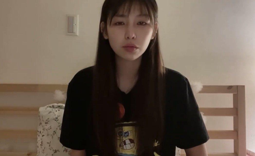 采子錄製聲淚俱下的影片道歉。圖/摘自IG