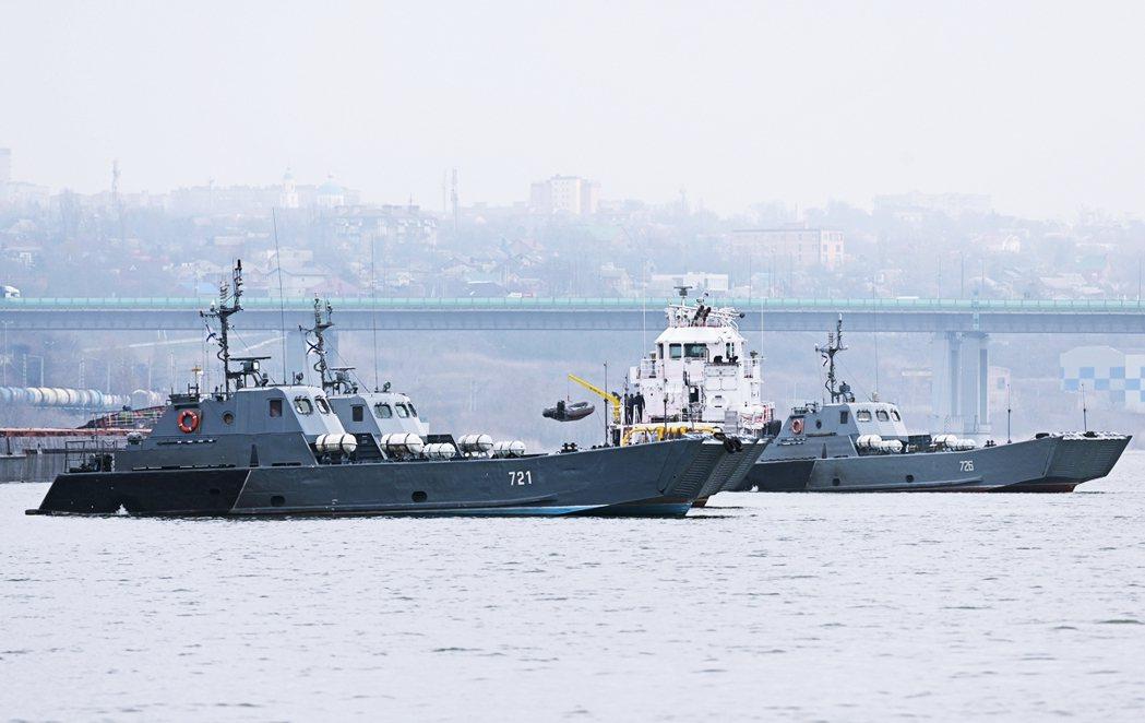俄羅斯在頓河上的裏海艦隊,正往黑海部署。 路透社/