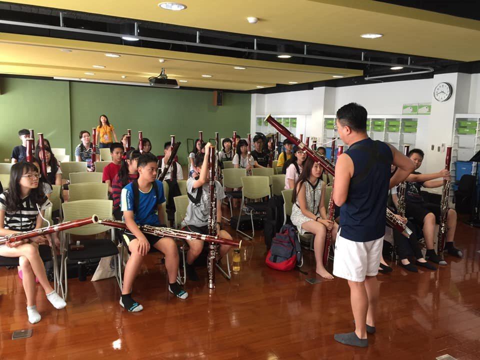 徐家駒舉辦低音管夏令營,期待學習的人能夠愈來愈多。 圖/徐家駒提供