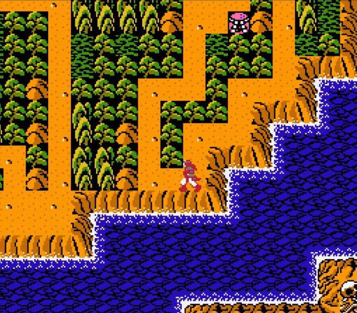 平常月風魔是以類似 RPG 方式,在一個島嶼的原野上進行移動,接觸到鳥居圖案才會...