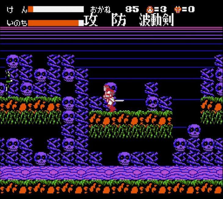 進入鳥居之後就會進入 2D 關卡,玩法就如同一般常見的動作遊戲。路上會有各式各樣...