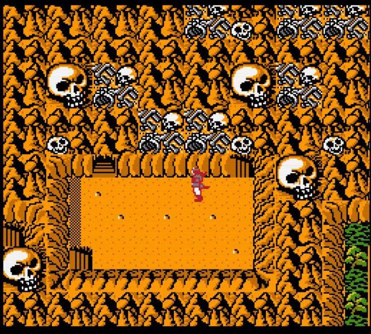 遊戲中很常出現以骷髏頭或是骸骨等元素,做為關卡的圖案裝飾。有時感覺還蠻陰森可怕的...