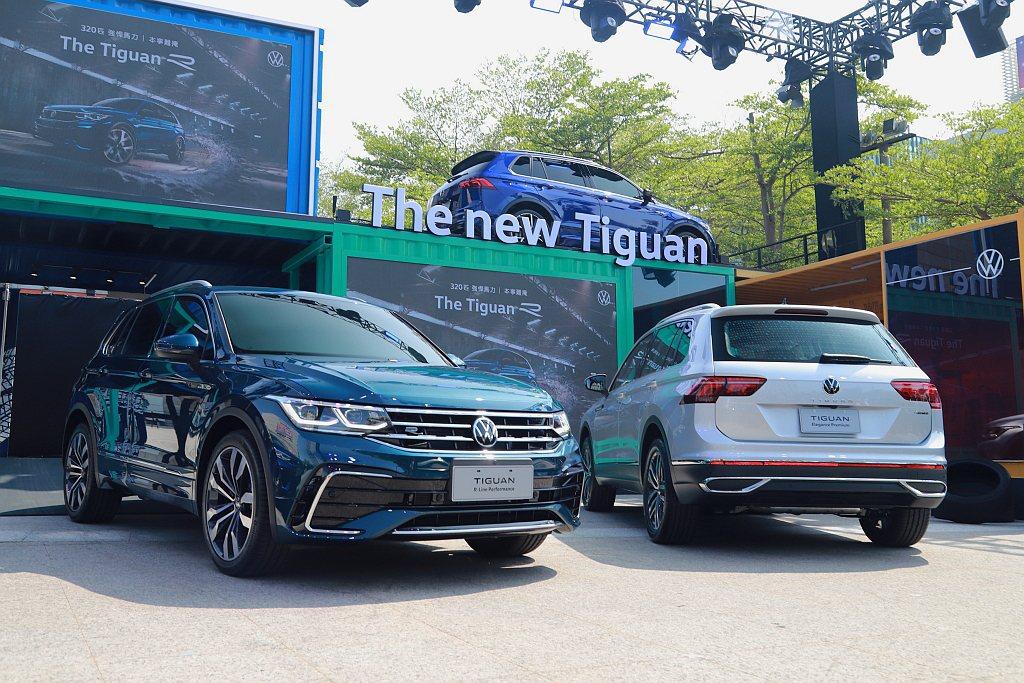 台灣福斯汽車公布小改款Tiguan休旅全車系售價,並帶來性能車型Tiguan R...