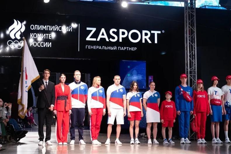 俄羅斯奧會發表參加東京奧運制服。 擷圖自俄羅斯奧會推特