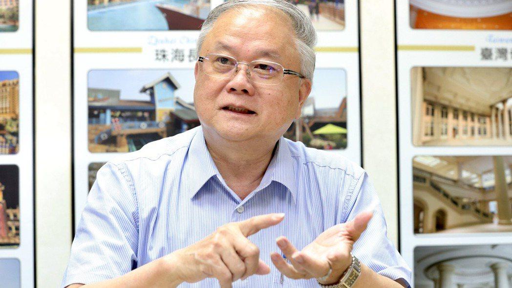 豪門國際董事長簡廷在。 記者林俊良/攝影