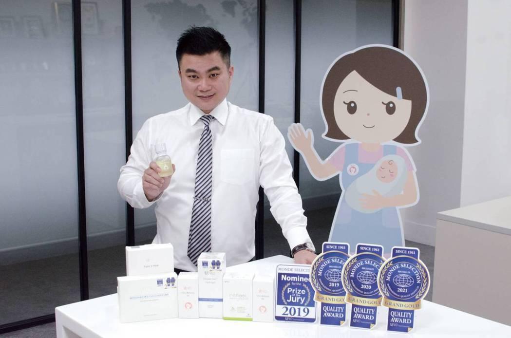 UNID品牌連續三年榮獲國際最高品質特金獎。瑞崎生醫/提供
