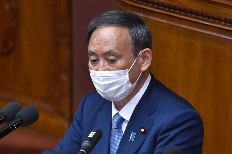 日本首相菅義偉。 法新社