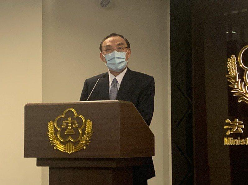 法務部長蔡清祥。記者王聖藜/資料照