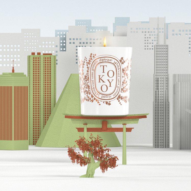 DIPTYQUE「城市限定蠟燭」東京 190g/2,600元。圖/10/10 A...