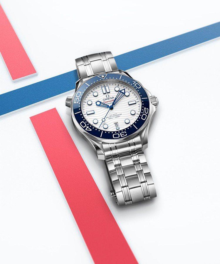 東京奧運贊助品牌歐米茄(OMEGA)以一只「海馬潛水300米東京2020腕表」信...
