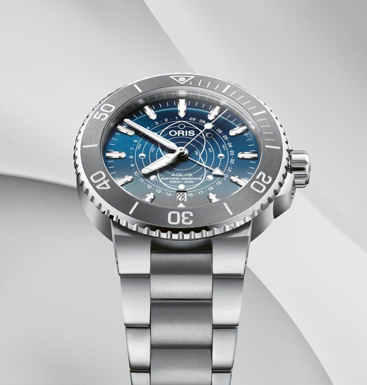 ORIS,Dat Watt限量腕表,精鋼、43.5毫米、時間顯示、指針式月相功能...