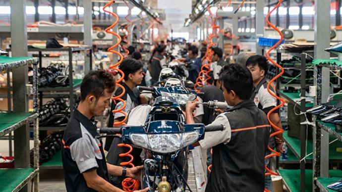 大陸首季製造業投資仍未回復至疫情前水平。取自界面新聞