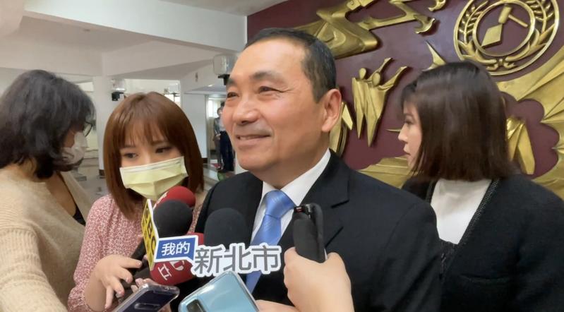 新北市長侯友宜今受訪指出,他反對福島核廢水排入公海。記者王敏旭/攝影