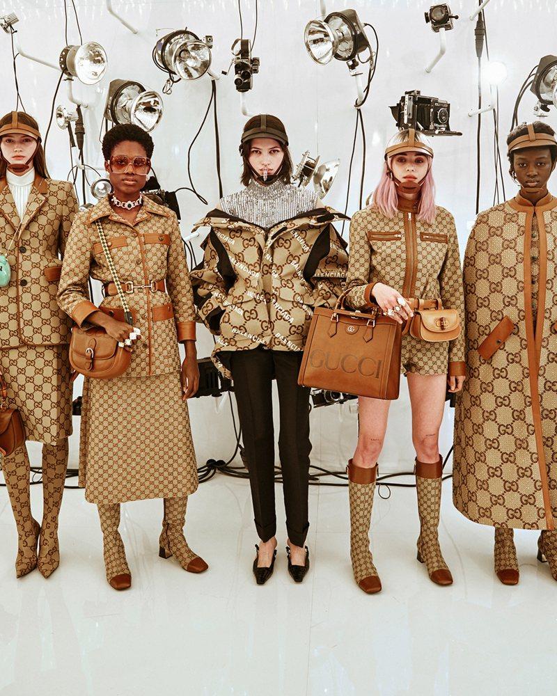 慶祝品牌成立100周年的GUCCI「時尚詠嘆調」匯聚了品牌經典元素。圖/GUCCI提供