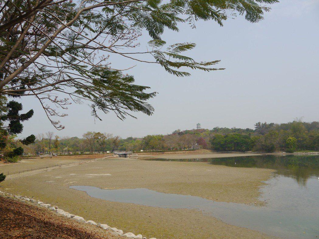大高雄水情日益嚴峻,澄清湖水庫上月底已經出現見底跡象。圖/本報資料照