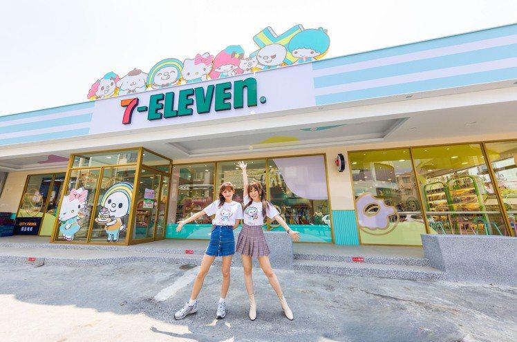 7-ELEVEN台南新康華門市改裝變身「OPEN! X Sanrio三麗鷗聯名主...