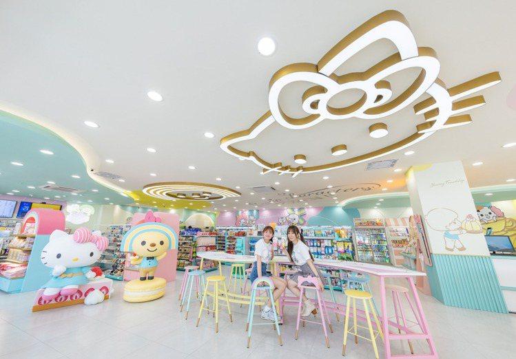 位於台南永康區的7-ELEVEN新康華門市改裝變身「OPEN! X Sanrio...