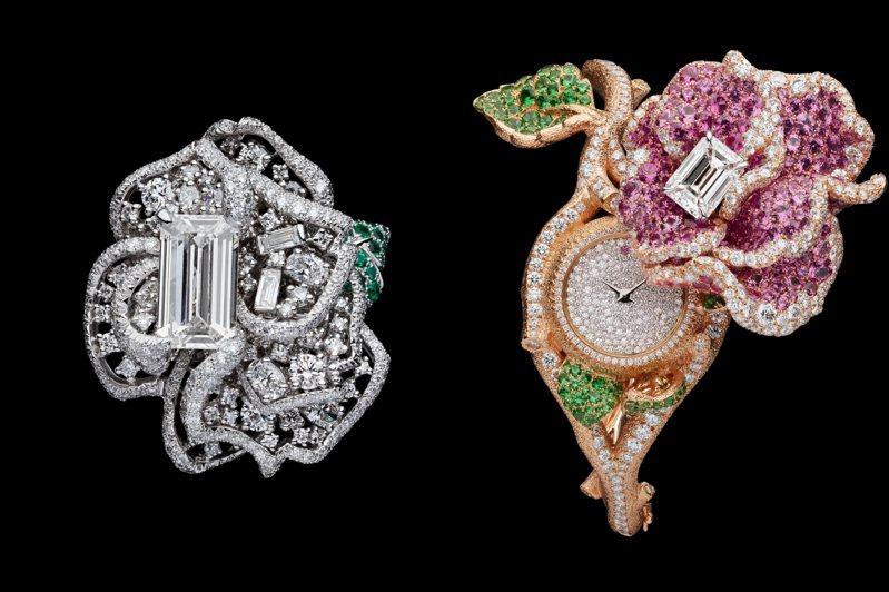 DIOR JOAILLERIE的ROSEDIOR高級珠寶暨腕表展自即日起至4月20日止於台北舉辦。圖/DIOR提供