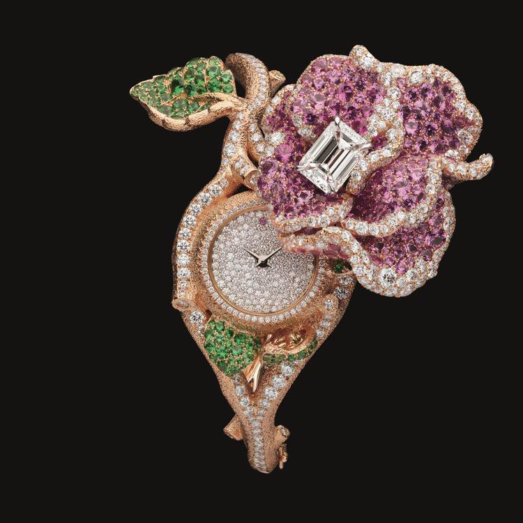 RoseDior Rose Hélios鑽石粉紅藍寶石手鐲神秘表,2,400萬元...