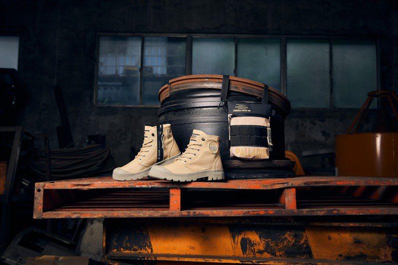 Palladium橘標防水RCYCL LT+Z系列靴,首推沙漠金配色3,580元。圖/Palladium提供