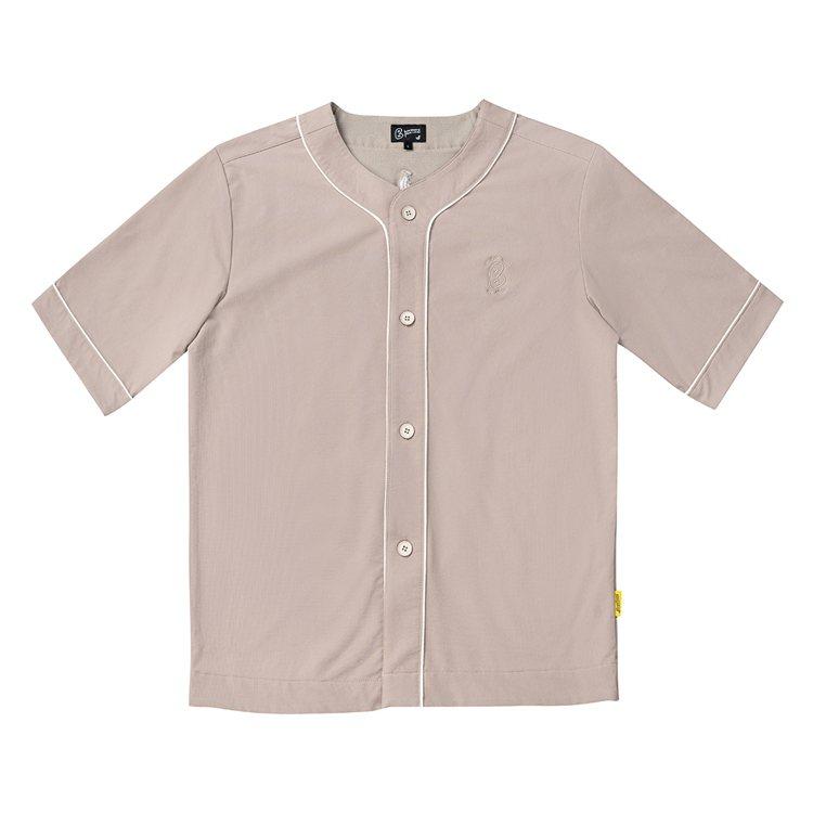 plain-me與中信兄弟職業棒球隊聯名系列棒球衫2,080元。圖/plain-...