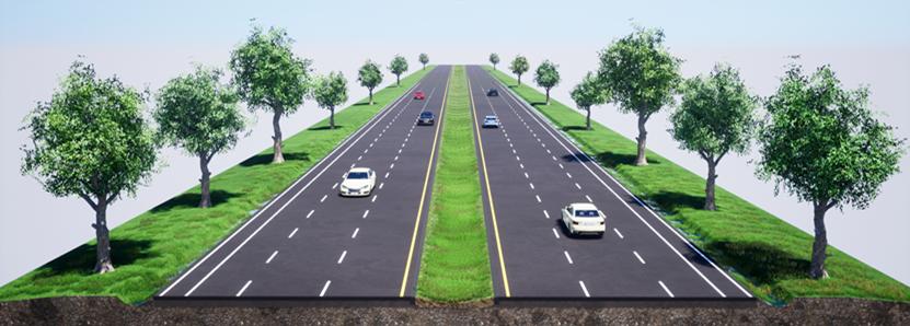 瑞豐永安段道路拓寬工程完成示意圖。圖/公路總局提供
