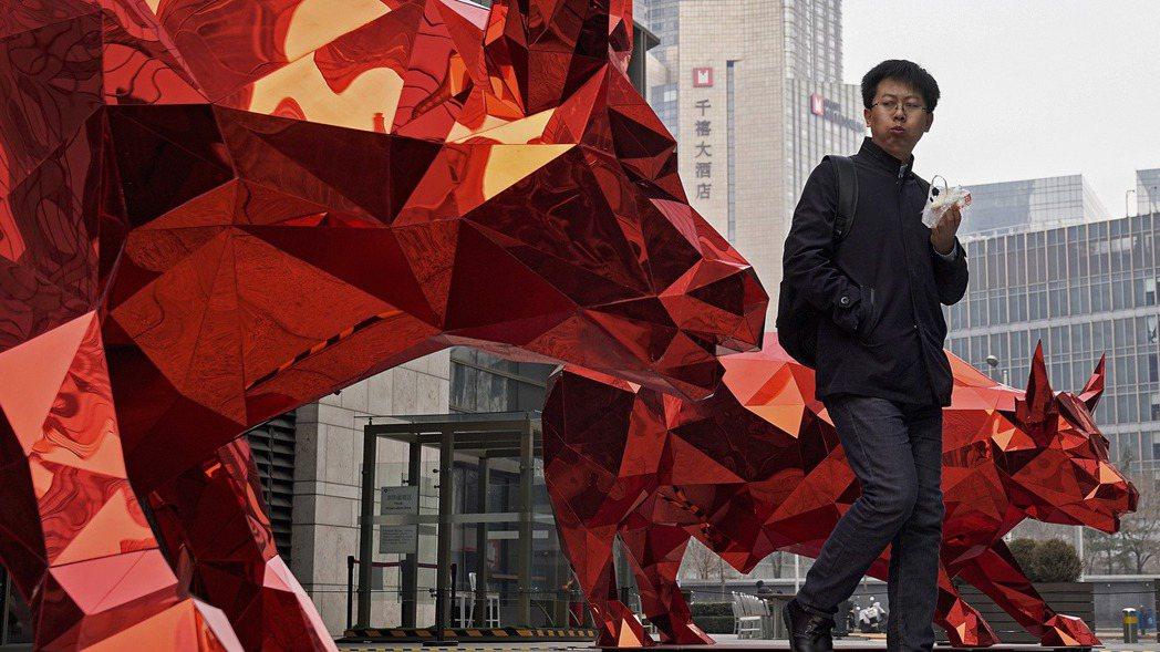 受低基期效應影響,中國大陸今年第1季GDP的年增率將超高。圖/美聯社