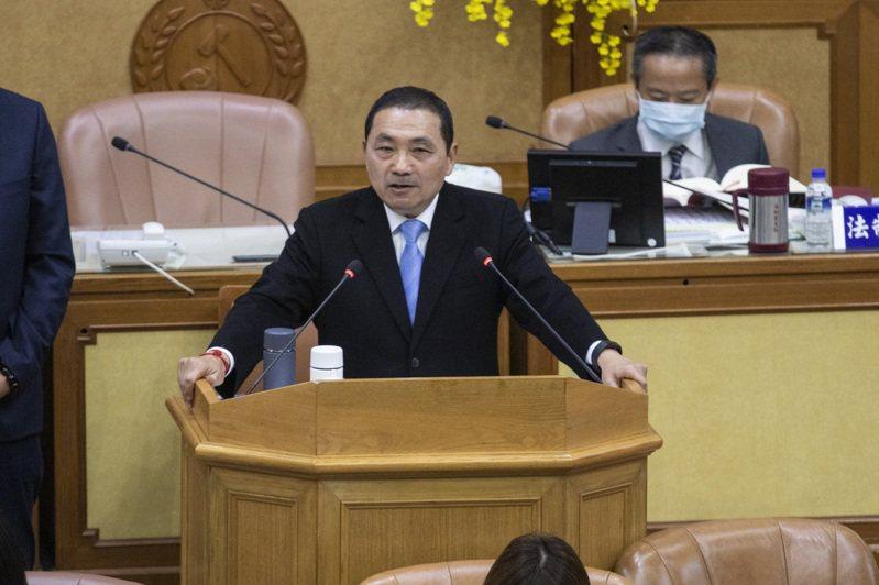 新北市長侯友宜昨在議會施政報告指出,明年會成立青年局。記者王敏旭/攝影