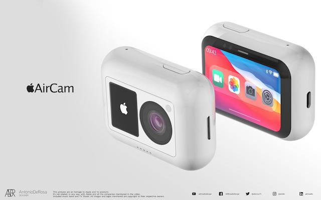 近期網路上也瘋傳,蘋果會推出一款全新的「運動相機AirCam」。圖擷自AntonioDeRosa
