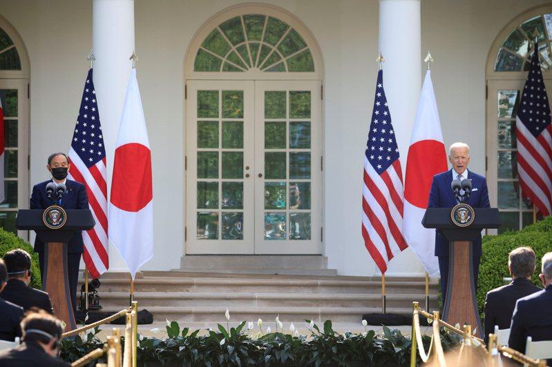 日本首相菅義偉在白宮與美國總統拜登舉行了首次會談。路透社