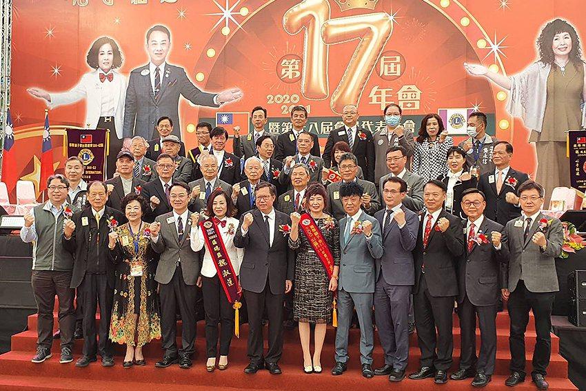 桃園市長鄭文燦肯定獅友對社會的貢獻。 曹松清/攝影