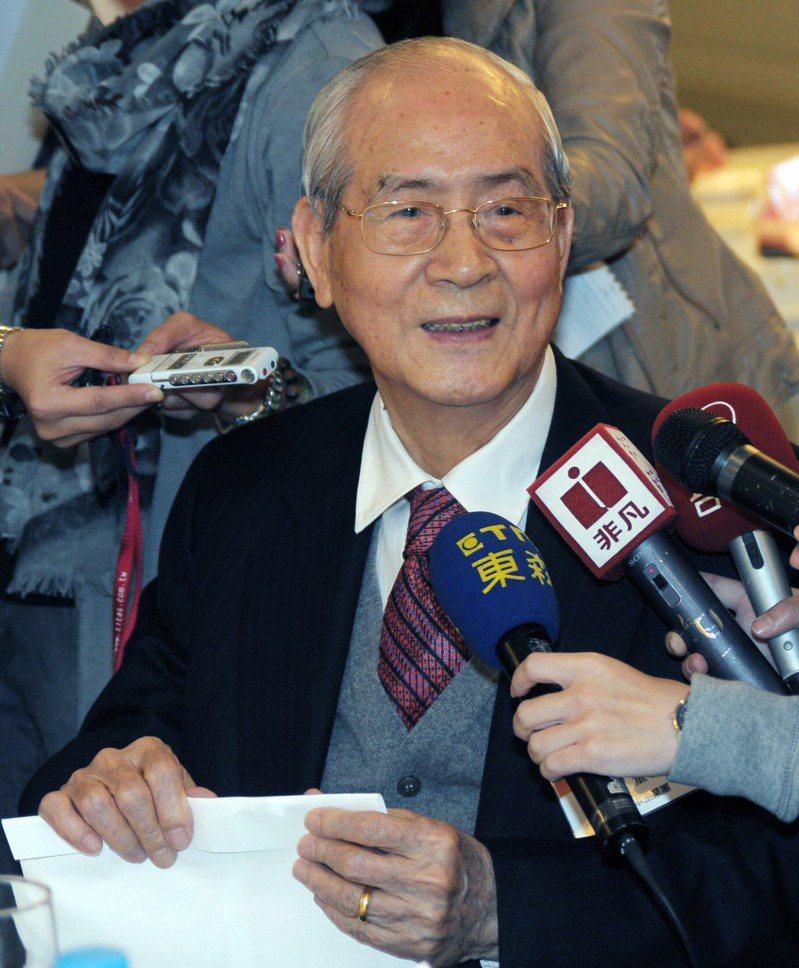 太子汽車創辦人許勝發17日上午病逝於新光醫院,享耆壽98歲。 報系資料照/記者陳易辰攝影