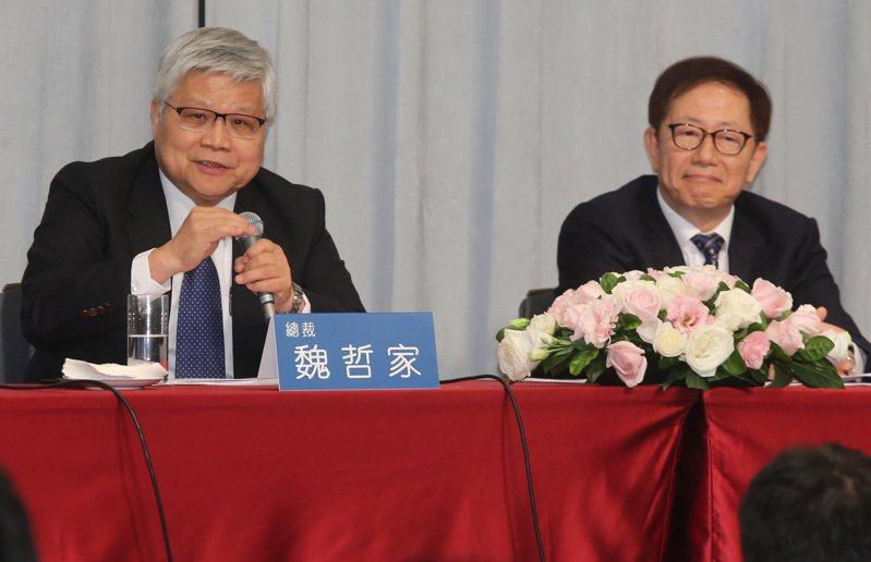 圖為台積電法說會資料照,由總裁魏哲家(左)、董事長劉德音(右)共同主持。記者曾學仁攝影/報系資料照