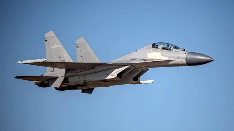 共軍1架次殲16戰機今天上午侵擾台灣西南防空識別區。 圖/國防部