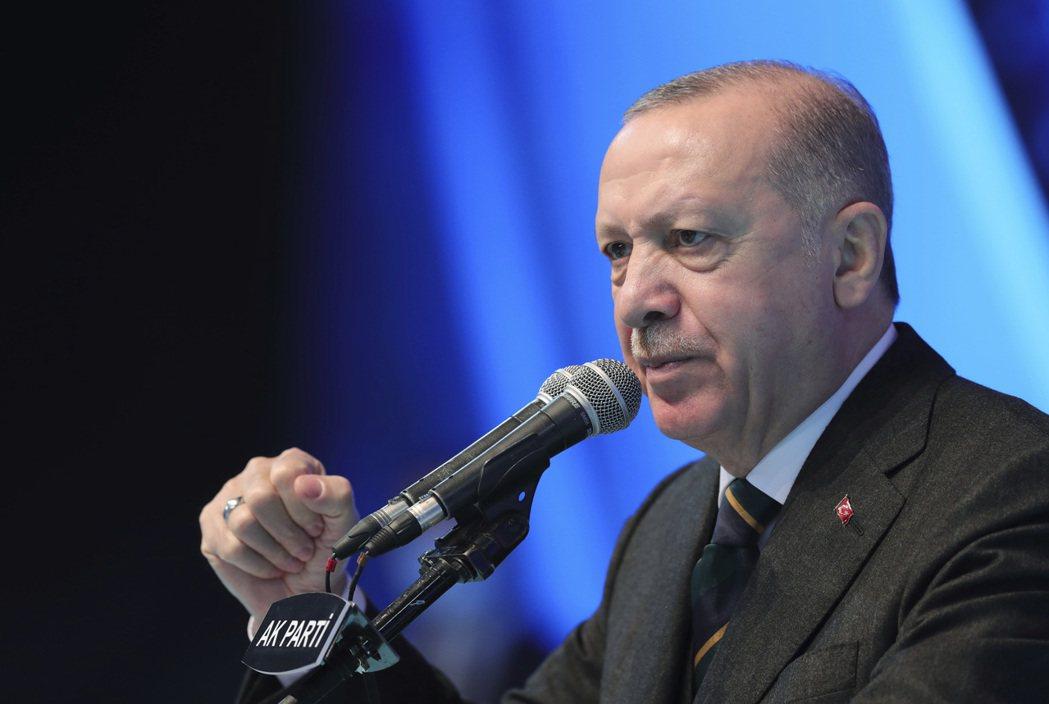 圖為土耳其總統厄多安。美聯社
