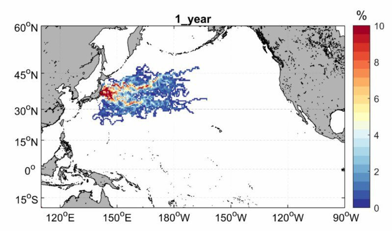 日排核廢水,海大模擬擴散速度:最快1年半影響台灣外海。圖/海大提供