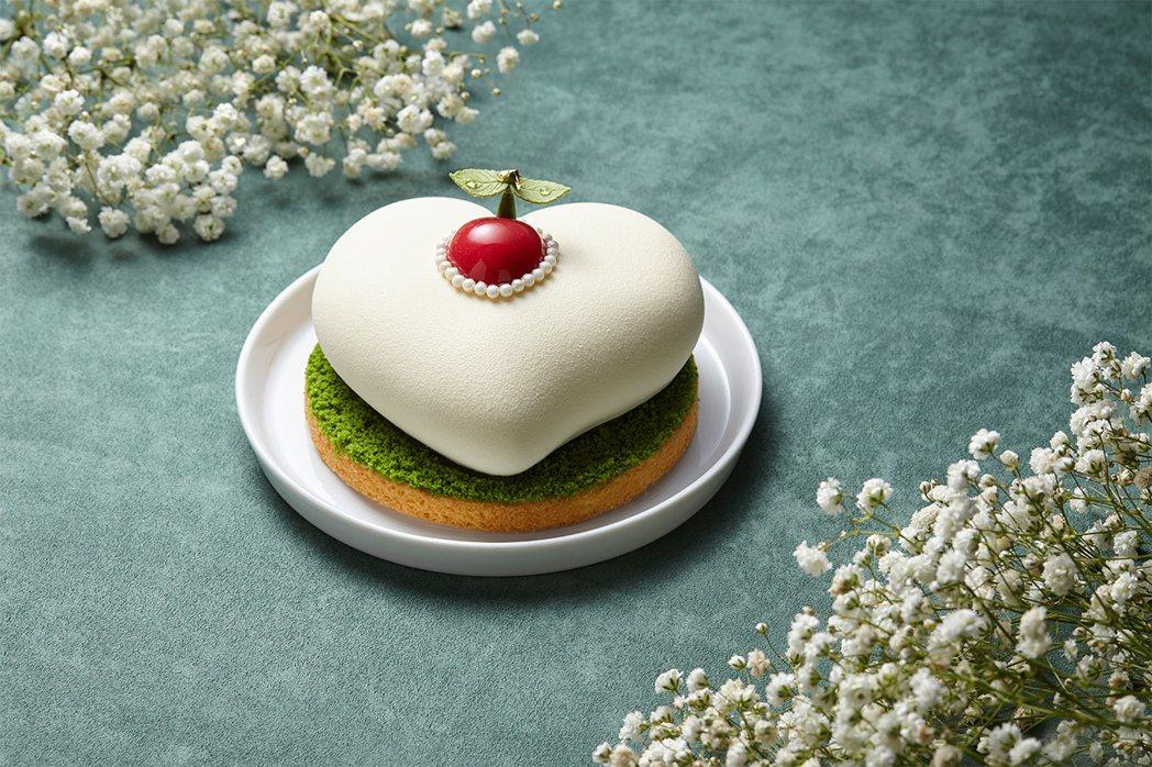 誠品行旅的「盼望」母親節蛋糕,以象徵期待的「春芽」為創作概念。圖/誠品行旅提供
