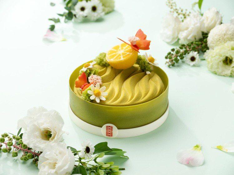 造型繽紛的檸檬塔「檸香花園」,特價980元。圖/北投麗禧提供