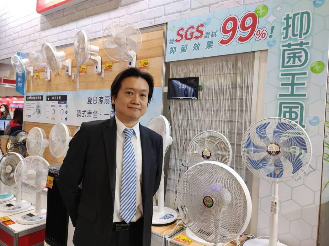 禾聯碩推出防疫新商品,結合銀粒子、光觸媒雙效抑菌科技的抑菌王風扇,給消費者更多防...