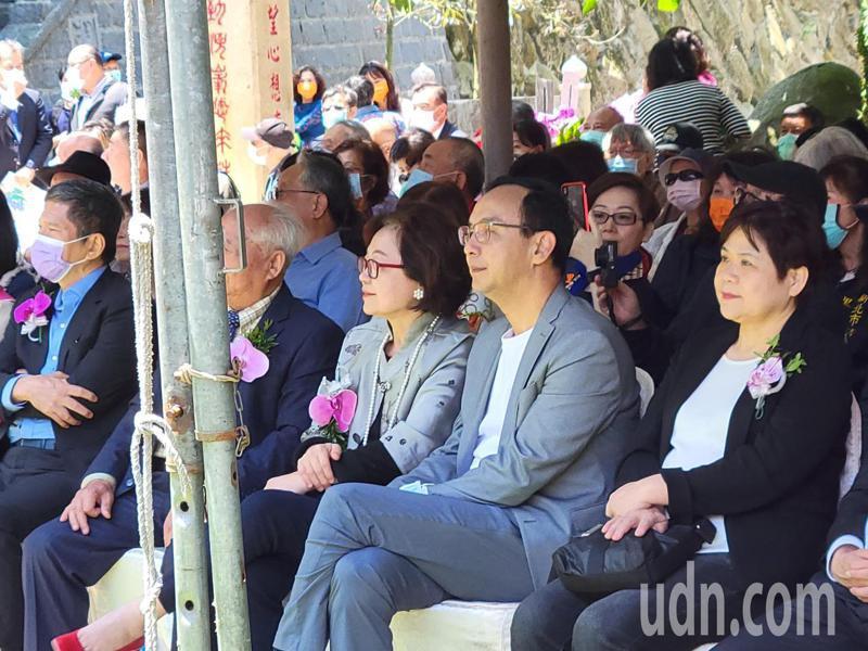 新北市前市長朱立倫出席淡水錦繡莊文化園區開幕。記者江婉儀/攝影