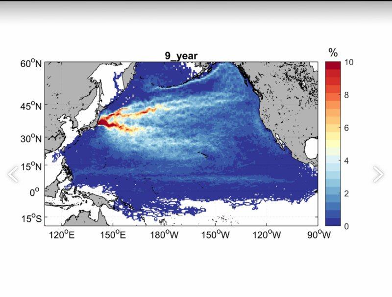 台灣海洋大學海洋環境資訊系特聘教授何宗儒,與博士生盧靖元應用衛星資料,計算出流場模擬動畫。圖/國立台灣海洋大學提供
