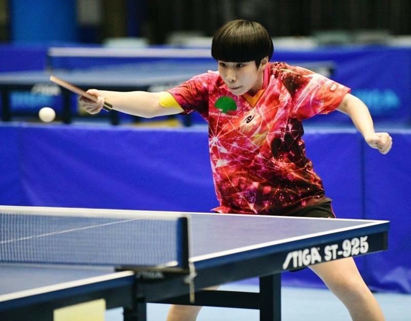 擁有桌壇「小辣椒」稱號的光復中學桌球隊蔡昀恩,希望個人單打可以盡力為新竹市拿下一面金牌。圖/新竹市政府提供