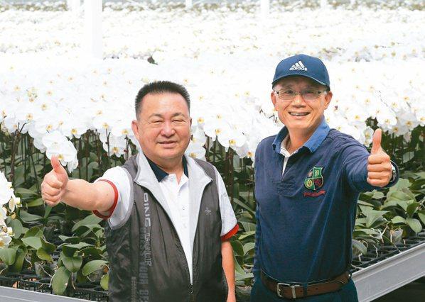 世茂農業生技董事長李文泰(左)、創辦人暨總監黃崇德。記者劉學聖/攝影
