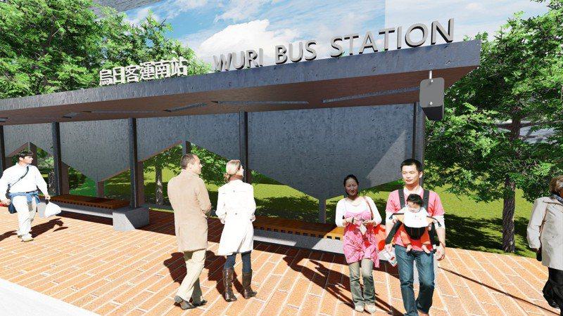 中捷綠線25日通車,新烏日將有台鐵、高鐵與捷運「三鐵」匯集,台中市交通局在台鐵新烏日站外增設烏日客運南站,紓解大眾運輸需求。圖/台中市交通局提供